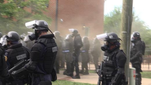 Police using tear gar to disperse protesters in Charlottesville (FILE IMAGE)