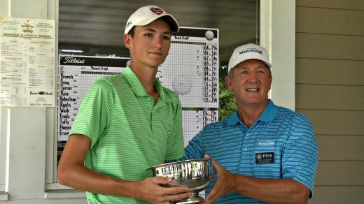 A.J. Stouffer won the City Championship by eight strokes
