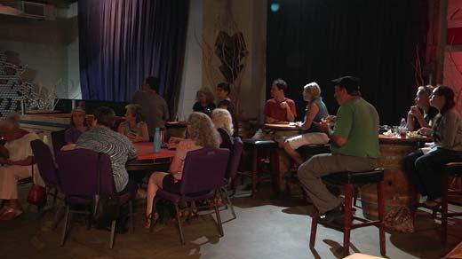 Together Cville potluck dinner at IX Art Park