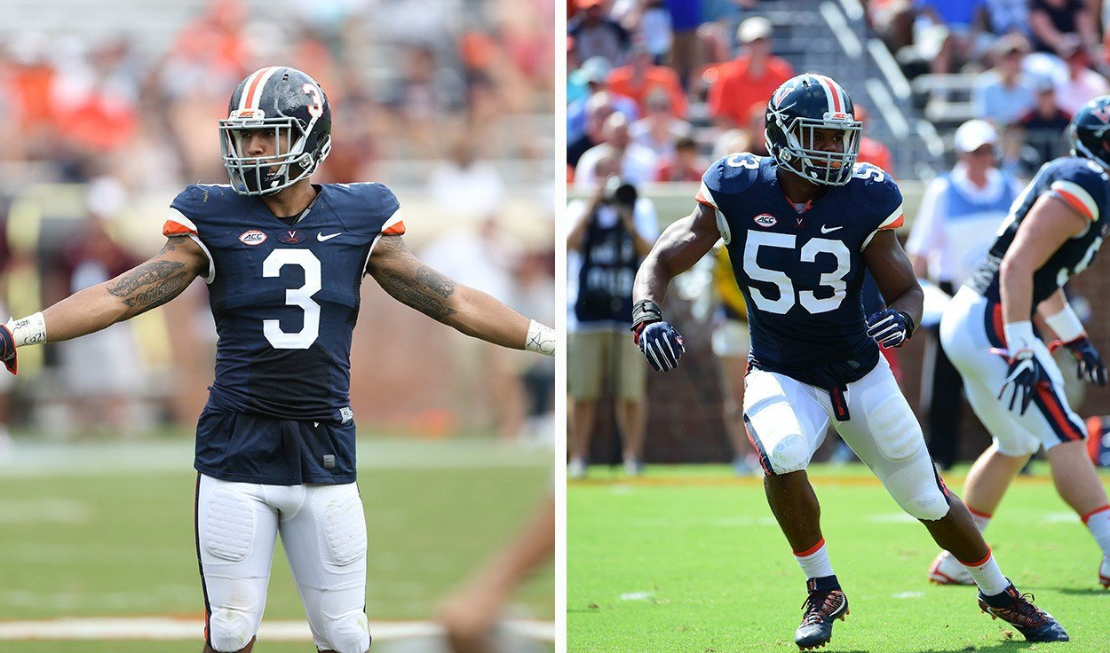 Quin Blanding and Micah Kiser