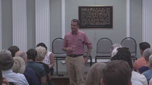 Lt. Gov. Ralph Northam talking at Albemarle County Democratic Committee