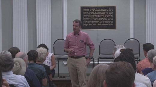 Lt. Gov. Ralph Northam talking at Albemarle County Democratic Committee