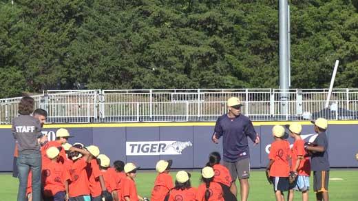 at Carson Raymond Foundation baseball camp at UVA