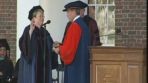Teresa Sullivan, the University of Virginia's 8th president was sworn in Friday on grounds