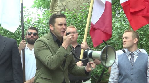 Richard Spencer taking part in an event at Justice Park (FILE IMAGE)