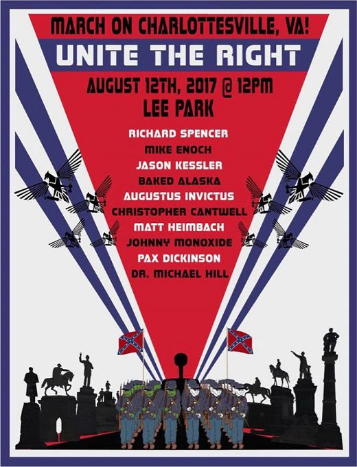 Flyer for Unite the Right