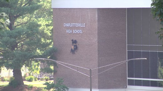 Charlottesville High School, where meeting was held.