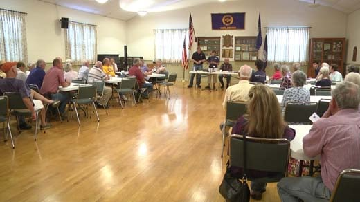 Middlebrook Fire Department held a community meeting Wednesday night