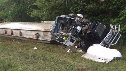 accident scene on I-64