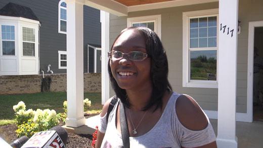 Shanice Dillard, owner of new home