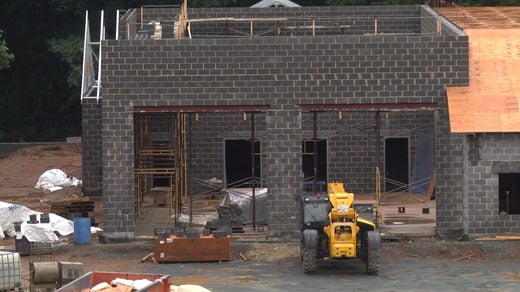 Crews working on the new Pantops Station 16 in Albemarle County