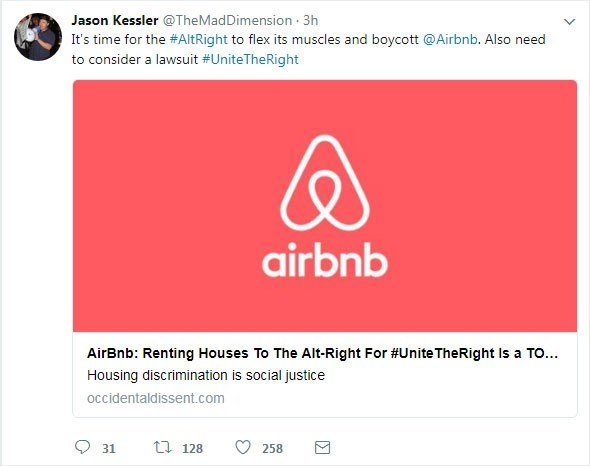 Airbnb users claim they are getting booted over far-right rally plans