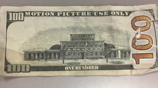 """Motion Picture Use Only"" $100 bill"