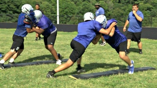 R.E. Lee has five seniors on the offensive line