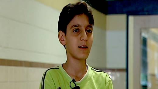Adnan Al-Samaree is sixth grader at Jack Jouette Middle School and refugee from Iraq.