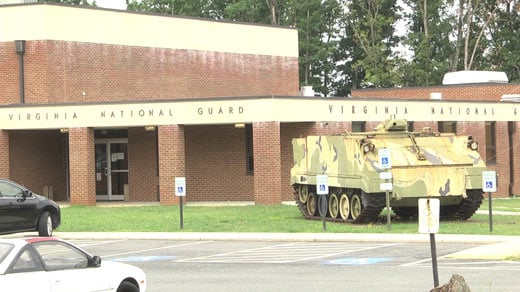 Virginia National Guard building on Avon Street