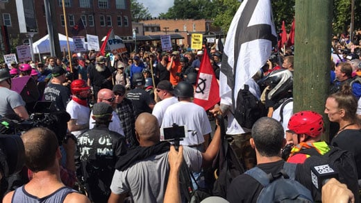The Unite the Right rally at Emancipation Park (FILE IMAGE)