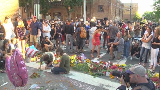 The vigil for Heather Heyer in Charlottesville