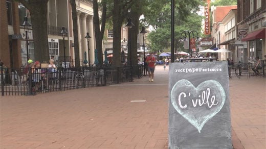 Charlottesville Downtown mall two days following Unite the Right rally