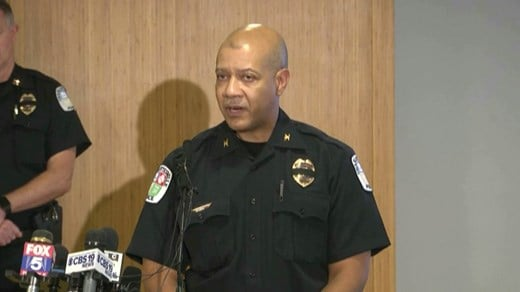 Chief Al Thomas at presser Monday