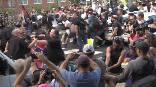 from Saturday's Unite the Right rally clashes
