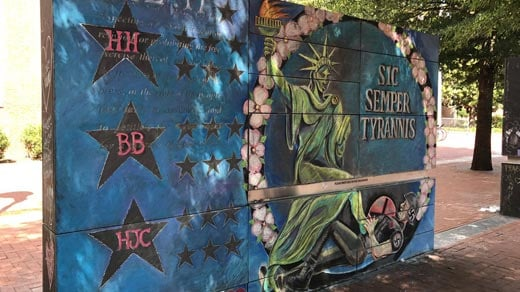 Second mural in honor of Heyer and the 19 other victims of the crash.