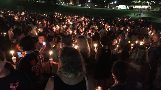 Vigil held in Washington to unite with Charlottesville against hate