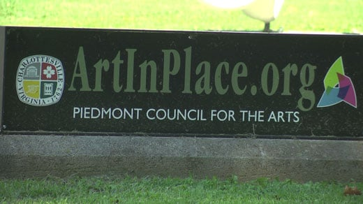 Art In Place sign in Charlottesville