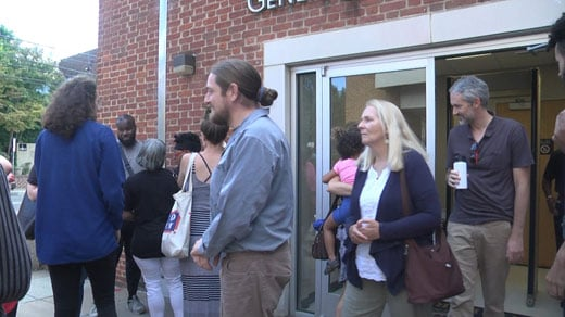 People leaving Charlottesville General District Court