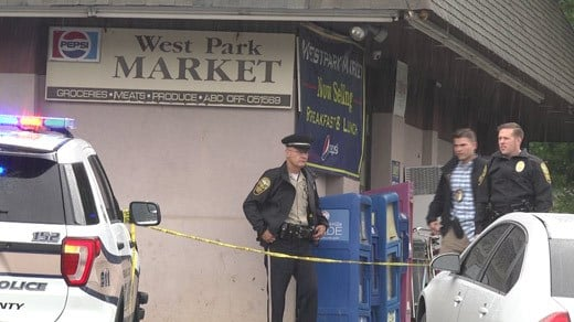 Albemarle County police on the scene at West Park Market (FILE IMAGE)