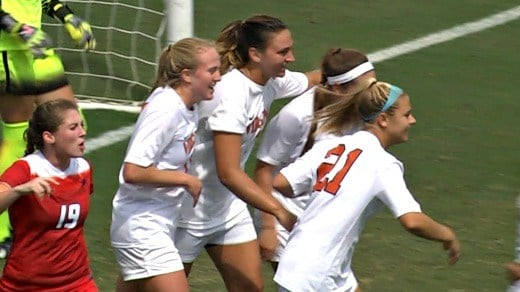 Junior Brianna Westrup scored the only goal of the game for UVa