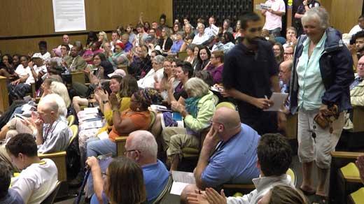 public hearing at City Council meeting