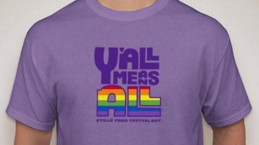Shirt design of Cville Pride Festival 2017 (Image courtesy cvillepride.org )