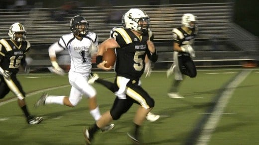 Monticello's Kevin Jarrell set a Mustangs' single-game total offense record with 424 yards vs Turner Ashby