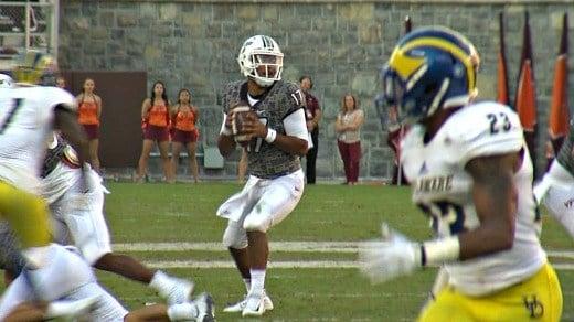 Freshman quarterback Josh Jackson passed for two touchdowns