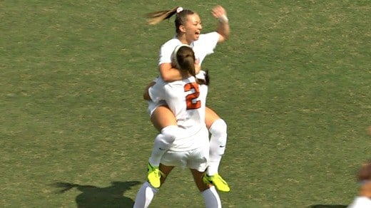 Courtney Petersen put UVa on the board in the 3rd minute with her first goal of the season.