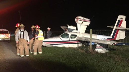 Small plane that crashed
