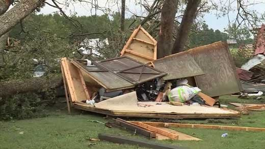 destruction from Hurricane Harvey in Texas