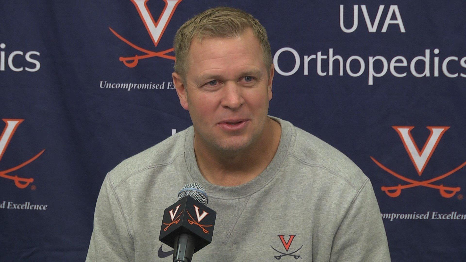 UVA coach Bronco Mendenhall