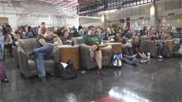 Students at PVCC attending the teach-in