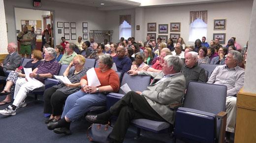 public meeting at Staunton City Hall