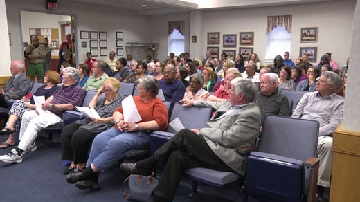 public meeting at Staunton City Hall