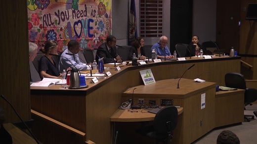 candidates at City Hall for forum