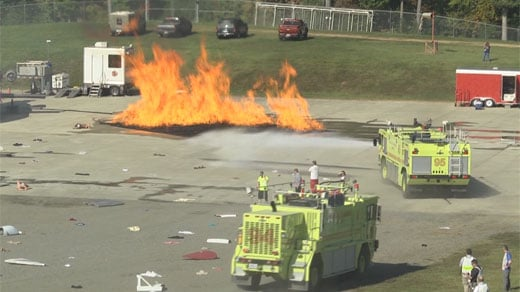 CHO Airport Hosts an Emergency Response Simulation