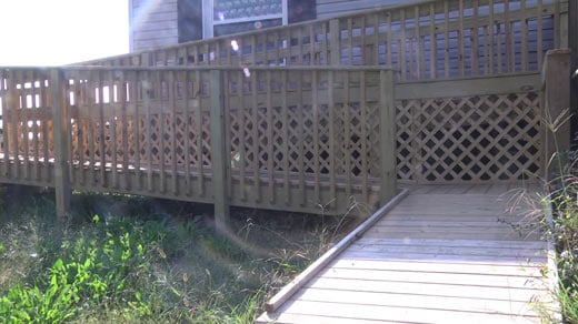 AHIP built a ramp to help Lisa and her wheelchair-bound son.