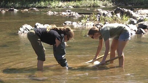 Testing the water quality of the Rivanna River