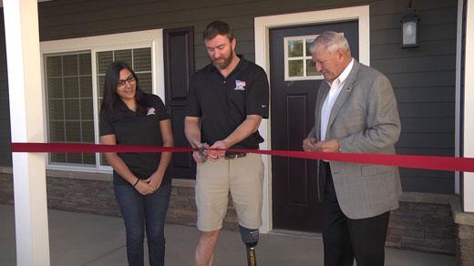 Kevin Blanchard at his new home