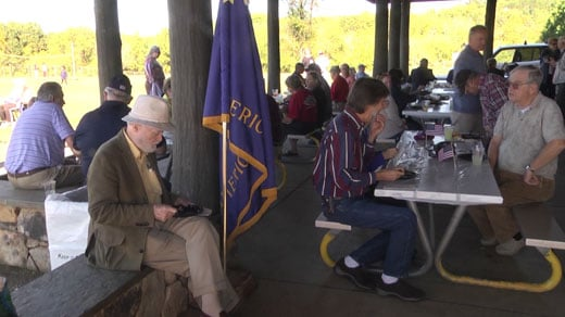 Post 74 celebrated its birthday with a cookout