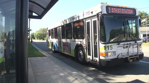 Route Two bus goes downtown