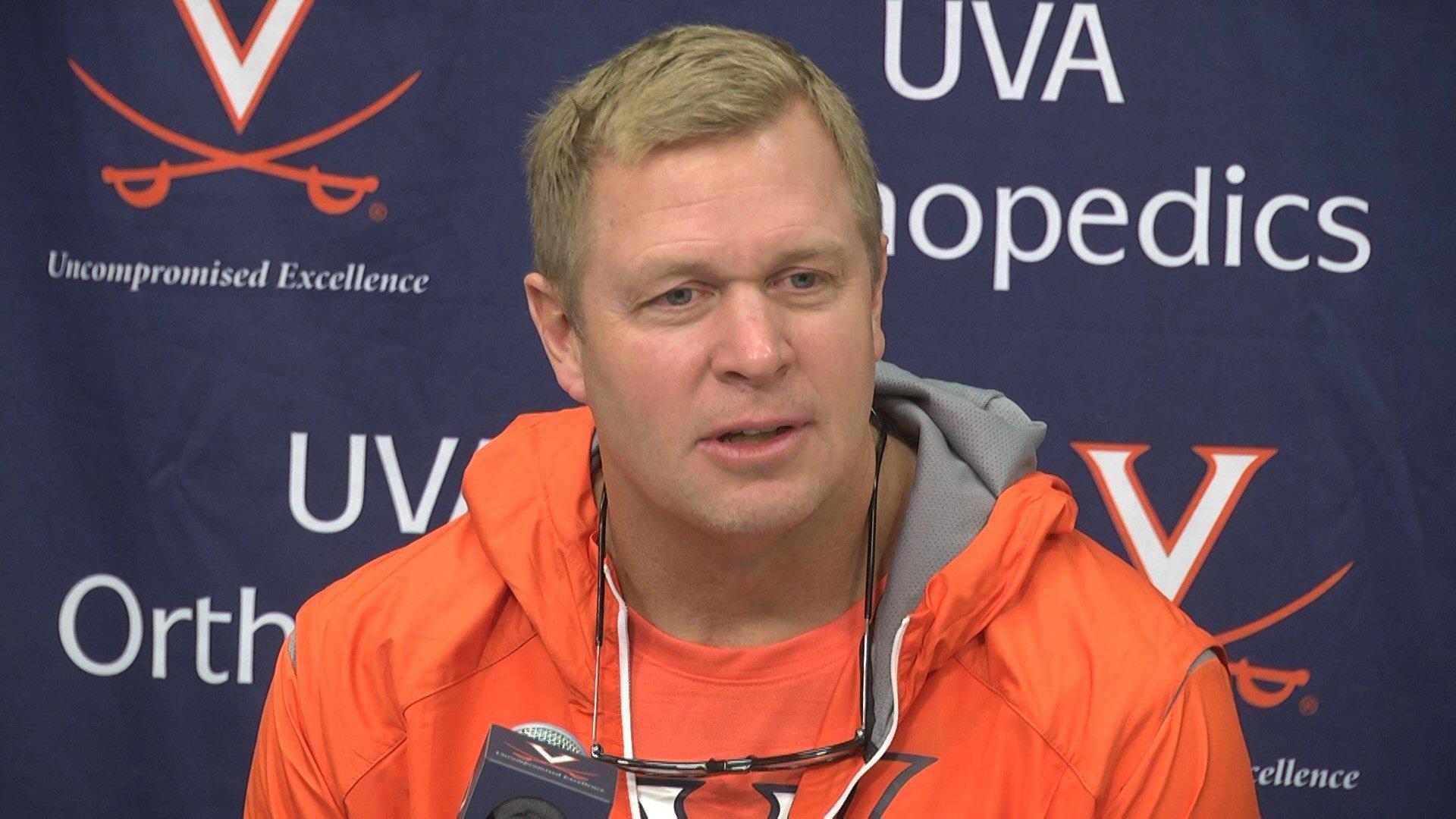 UVA football coach Bronco Mendenhall
